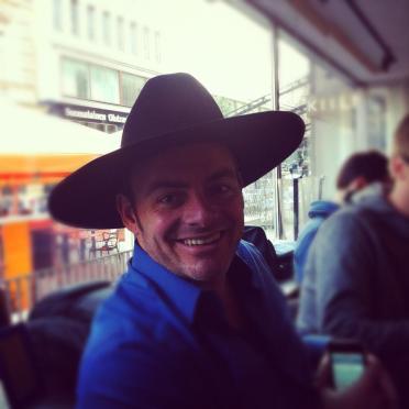 Wearing Bill Boorman's trademark hat at #truHelsinki